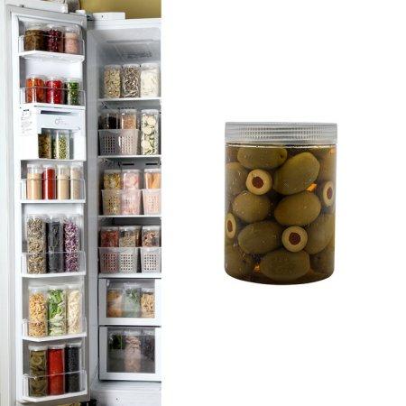 냉장고수납용기 원형 하프 1개