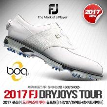 DRYJOYS TOUR (드라이조이 투어) 골프화 [53707/XW/화이트+화이트게이터] [남성용] 240mm(xw)