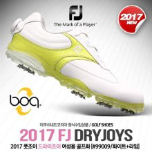 DRYJOYS (드라이조이) 보아 골프화 [99009/W/화이트+라임] [여성용] 220mm