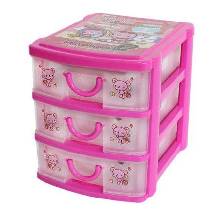 아이비스 3단 서랍 문구선물세트 핑크