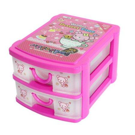 아이비스 2단 서랍 문구선물세트 핑크