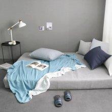 투톤 피그먼트 여름이불 - 블루 S(110*135) 1장