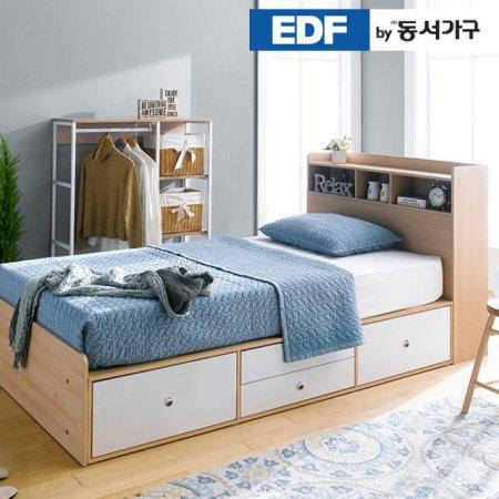 EDFby동서가구 루젠 수납헤드 깊은서랍 슈퍼싱글 침대(9존독립) DFF3598I _메이플화이트 콤비
