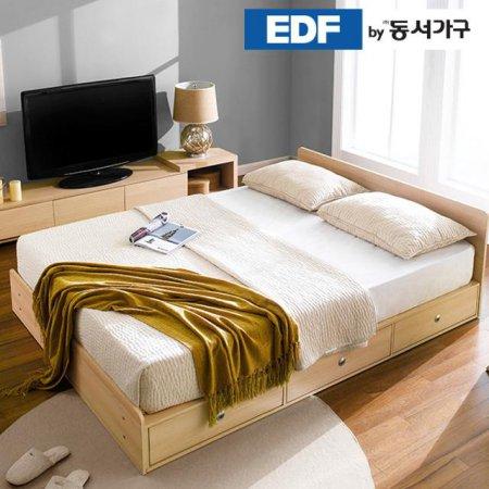 EDFby동서가구 루젠 깊은서랍 퀸 침대 프레임 DF636026 _메이플화이트 콤비