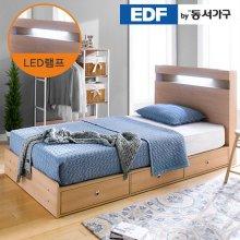 EDFby동서가구 루젠 LED조명 깊은서랍 슈퍼싱글 침대 프레임 DF636046 _메이플