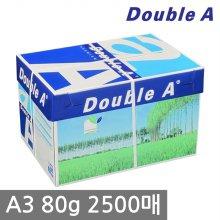 더블에이 A3 복사용지(A3용지) 80g 2500매 1BOX