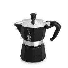 [이탈리아 국민 커피용품] 모카 에스프레소 커피메이커 3컵 (블랙) + 세척용커피