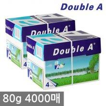 더블에이 A4 복사용지(A4용지) 80g 2000매 2BOX(4000매)