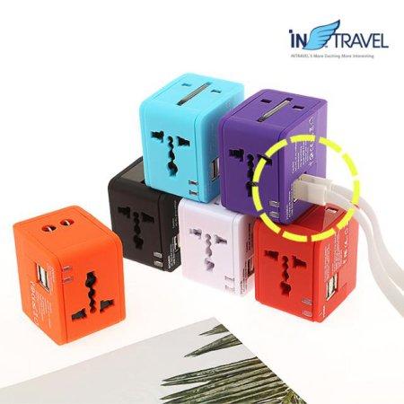 USB트래블아답터-큐브 듀얼포트 6종