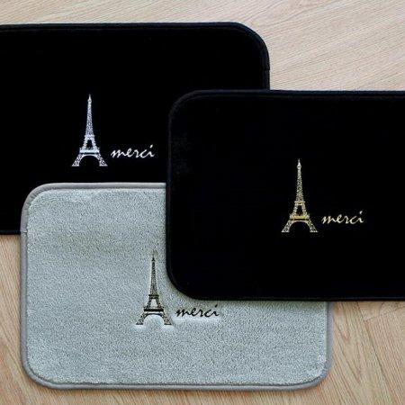 에펠탑 자수 발매트 그레이+블랙