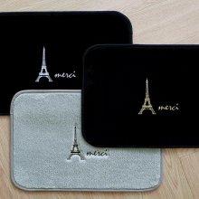 에펠탑 자수 발매트 블랙+화이트
