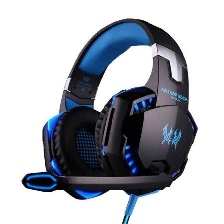 게이밍특화 고음질 LED라이트 컨트롤톡 헤드셋 G2000 COOL BLUE