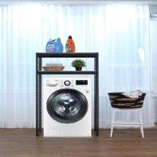 2단 무볼트 조립식앵글 드럼세탁기선반-블랙(800x400x1500/1.6T)