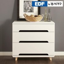 EDFby동서가구 유로밍 블랙콤비 3단 서랍장 DFF356IC