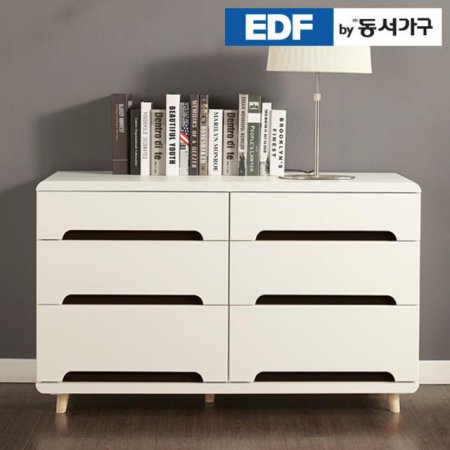 EDFby동서가구 유로밍 블랙콤비 3단 와이드서랍장 DFF356IA