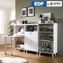 EDFby동서가구 올리브 식탁 수납장 풀세트 DF636002 _화이트