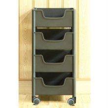 적층식 수납박스(4단)-블랙-로라형
