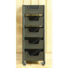 적층식 수납박스(5단)-블랙-로라형