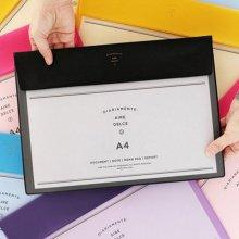 이널 AIRE FILE CASE A4 [파일케이스/화일포켓/A4파일/파일포켓/서류보관] hot pink