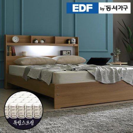 EDFby동서가구 라피 LED침대 슈퍼싱글 독립스프링 DF636468 _월넛