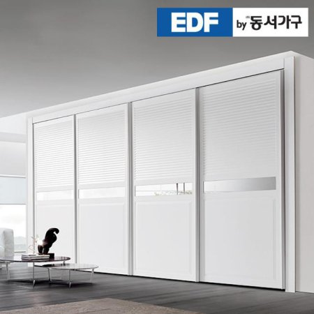 EDFby동서가구 시스템갤러리 미러 슬라이딩 붙박이장 10cm DF636574