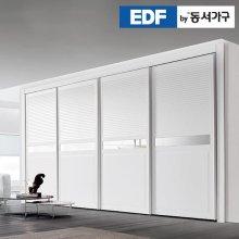 EDFby동서가구 시스템갤러리 미러 슬라이딩 붙박이장 30cm DF636564 _화이트 웜베이지