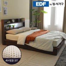 EDFby동서가구 라피 평상서랍형 LED침대 슈퍼싱글 케미컬폼매트 DF636493 _오크