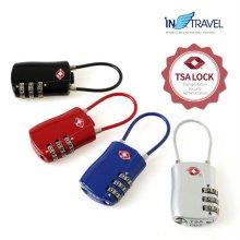 TSA 와이어형 자물쇠 (레드) NO.1284