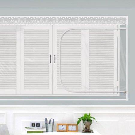 다샵 창문형지퍼식 방풍 바람막이 투명 120x100cm
