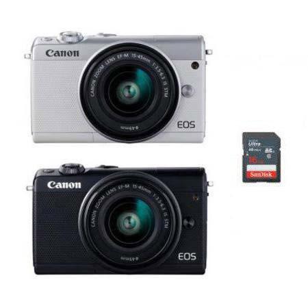 EOS-M100 미러리스 카메라 [본체+15-45mm IS STM/EF-M마운트][16GB메모리 + 고래파우치]