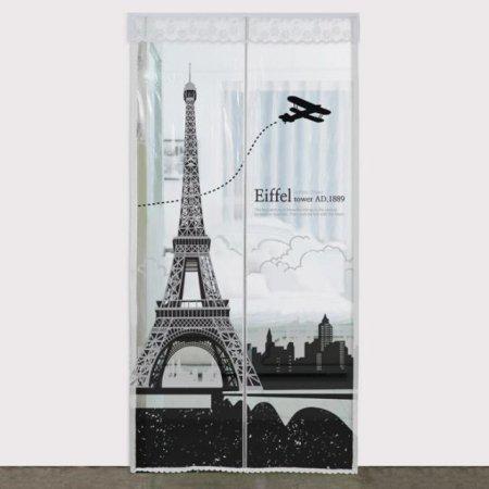 다샵 EVA일체형 방풍 바람막이 에펠탑 투명 100x210cm
