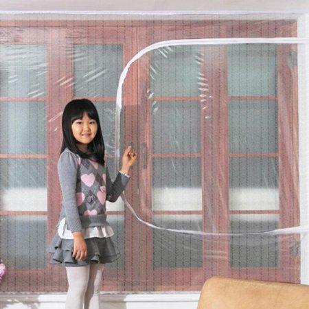다샵 창문형지퍼식 방풍 바람막이 에어캡 150x120cm