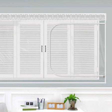 다샵 EVA창문형지퍼식 방풍 바람막이 투명 150x120cm