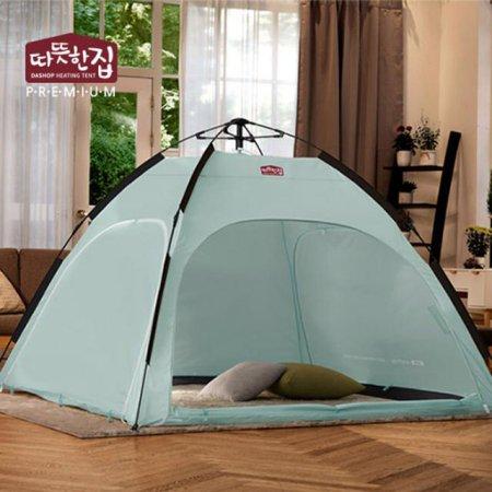 다샵 따뜻한집 자동 난방텐트 민트 4~5인용(210x210x150)