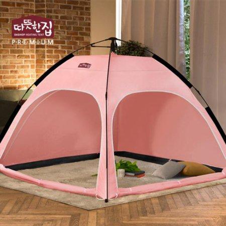다샵 따뜻한집 자동 난방텐트 핑크 2~3인용(210x150x135)
