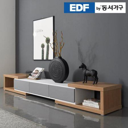 EDFby동서가구 GT익스텐션 2500 투톤거실장 DF636756 _화이트그레이
