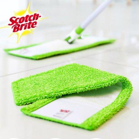 극세사 막대걸레용 청소포 리필 (1매) /거실 주방 욕실 청소 걸레