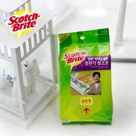표준형 정전기 청소포-1 (30매) /거실 주방 욕실 청소 걸레