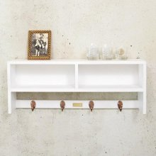 뉴송고무나무 벽선반65(white)