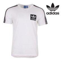 [QR코드인증]아디다스 오리지널 남성 스트릿 에센셜 박스 로고 반팔 티셔츠 - AJ8068 S