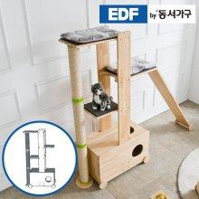 EDFby동서가구 펫츠펀 원목 캣타워 화장실형+스크래쳐 D형 DF636835 _내추럴