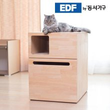 EDFby동서가구 펫츠펀 복층형 소나무원목 냥이화장실 DF636817 _내추럴