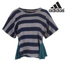 [QR코드인증]아디다스 여성 스텔라맥카트니 STU 스트라이프 티셔츠/요가복/일본매장판 - M60453 XS