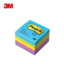 포스트잇 큐브노트 654-5UC /5색 형광 메모지 팩 세트