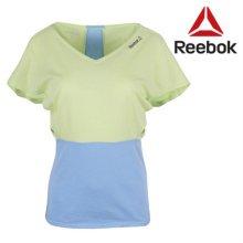 [QR코드인증]리복 여성 YG YRSM SS TOP4 요가 반팔 티셔츠/일본매장판-B22203 S