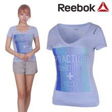 [QR코드인증]리복 여성 YOGA COM/플레이드라이/요가 반팔 티셔츠-Z93434 S