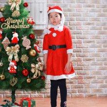 미니멀  어린이 원피스 산타복세내외여 산타복세트1개