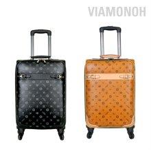 비아모노 자카드 20형 소프트 여행가방 카멜