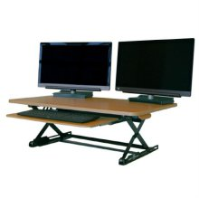 DeskTopDesk 높낮이 조절 스탠딩책상 DTD-M-EMB-SK [망블피치 / 중형 / 슬라이드 키보드 받침대]