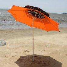 2단 투톤 파라솔 꺾임형 2.4M 오렌지